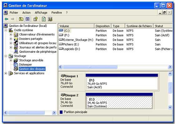 Le raid logiciel sous windows xp professionnel page 3 of for Fenetre windows xp