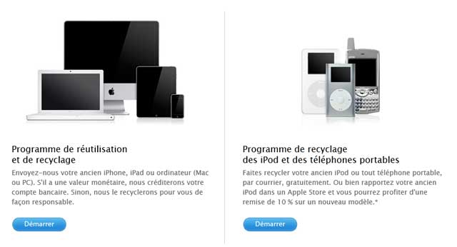 Recyclage Apple