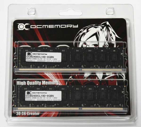 Kit DDR3 OCMemory OCM2400CL10D-8GBN