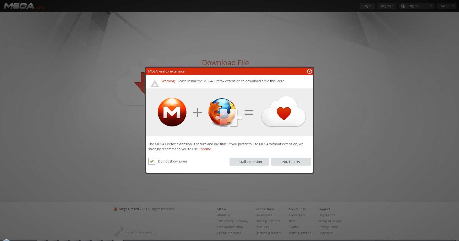 Official <b>Mega</b> <b>Firefox</b> <b>extension</b> released | MalwareTips Community