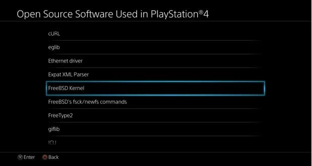 FreeBSD Kernel PS4