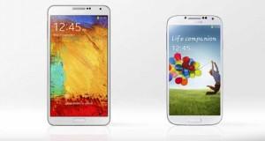 Galaxy Note III et GalaxyS4