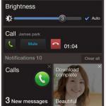 Interface utilisateur de l'OS Tizen v2.1