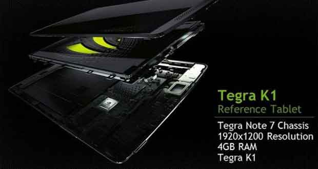 Tablette de référence Nvidia sous Tegra K1