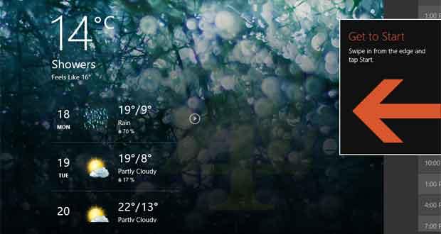 Capture d'écran de Windows 8.1 Update Build 9600.16606