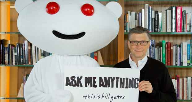 Bill Gates sur Reddit
