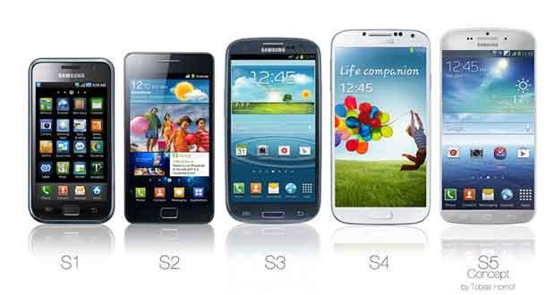 La série Galaxy S, du S1 au S5
