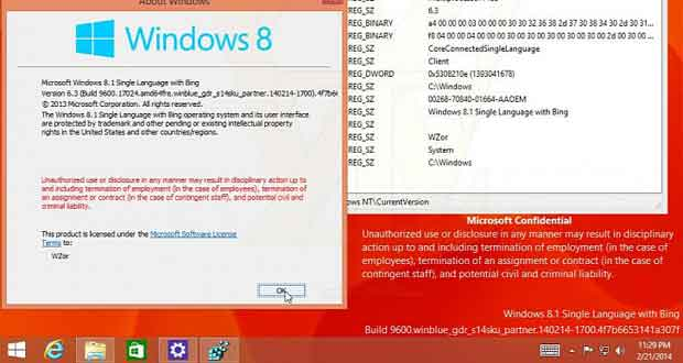 Windows 8.1 Update avec Bing et Internet Explorer