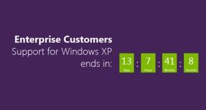 Fin du support de Windows XP, Compte à rebours
