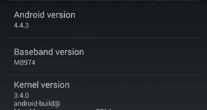 Android 4.4.3 sur un Nexus 5