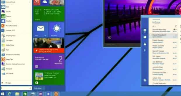 Microsoft annonce le retour du menu demarrer