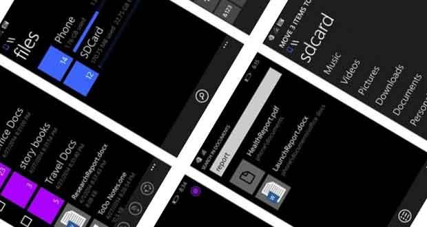 Gestionnaire de fichiers pour WIndows Phone 1