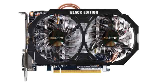 La GTX 750 Ti Black Edition, référence GV-N75TWF2BK-2GI Ultra Durable BLACK EDITION