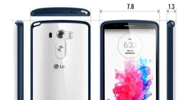 LG G3, les mensurations