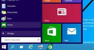 Capture d'écran du bureau de Windows 9