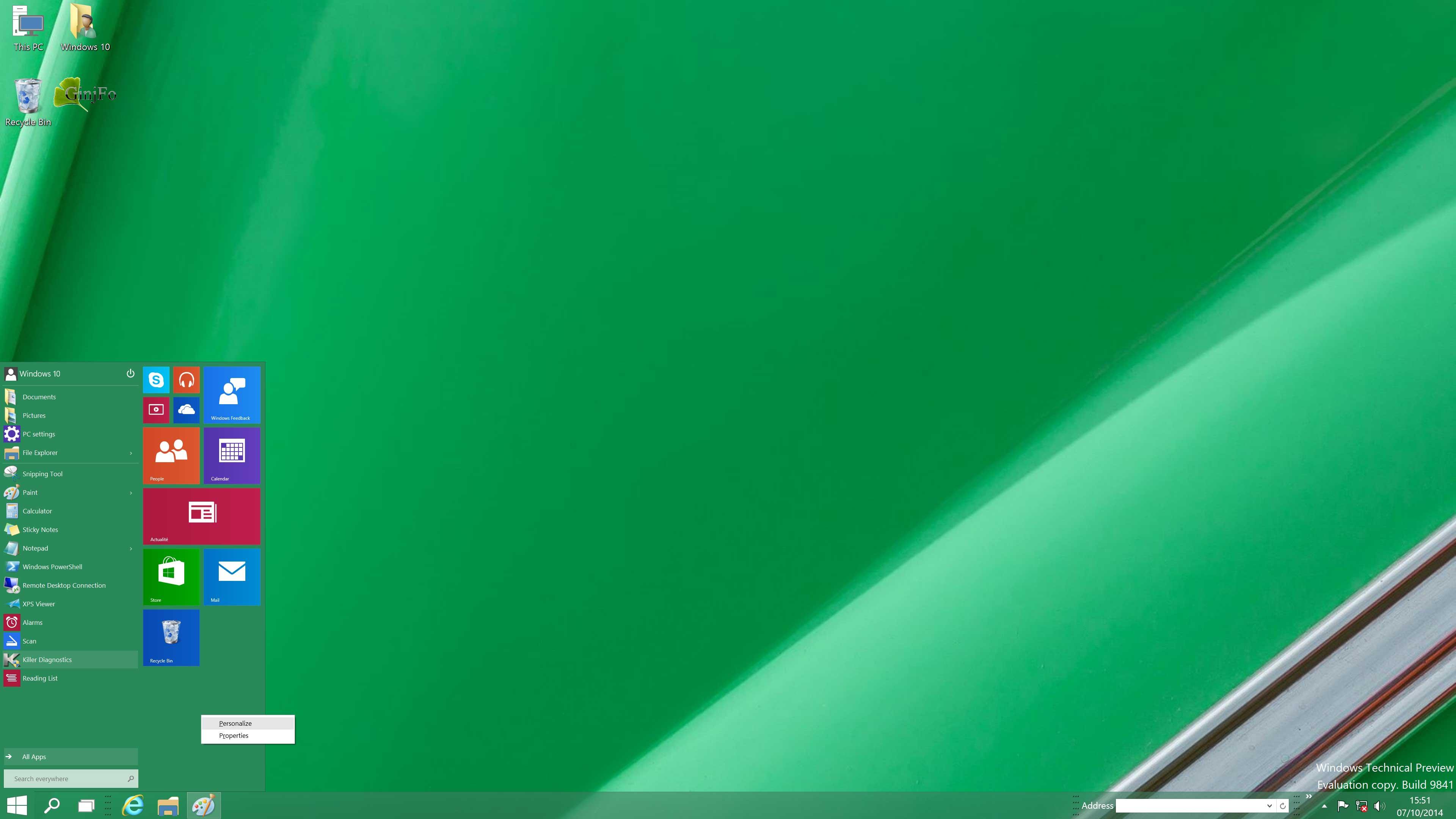 Windows 10 et windows vista vers une migration moindres for Bureau 3d windows 10