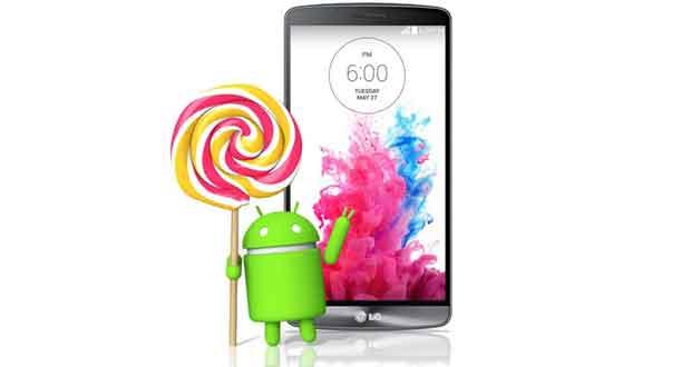 LG G3 : Mise à jour Android 5 Lollipop