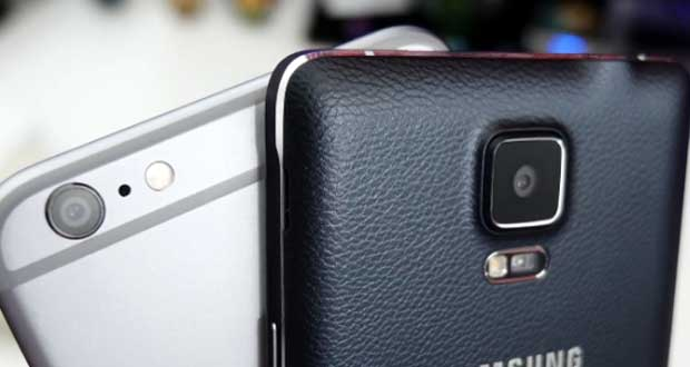 Galaxy Note 4 Vs iPhone 6 Plus