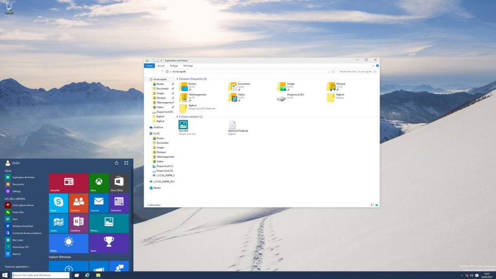 build 9926 de Windows 10 Technical Preview