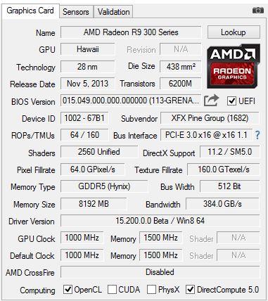 Radeon R9 390 / GPU-Z