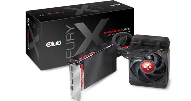 Radeon R9 Fury X de Club-3DRadeon R9 Fury X de Club-3D