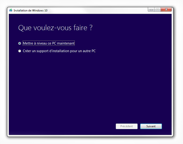 Media Creation Tool pour Windows 10