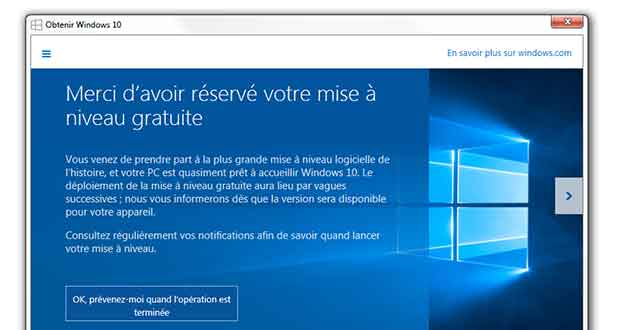 Windows 10 MAJ