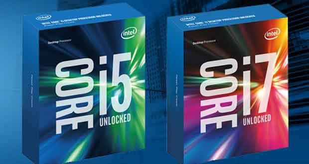 Processeurs Intel Skylake Core i7 et Core i5