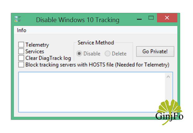Windows Tracking Disable Tool