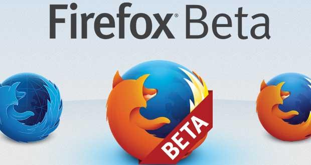 Navigateur Firefox (version beta)