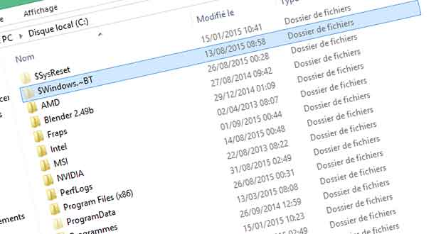 Windows 7 et 8.1, comment supprimer les fichiers d'installation de Windows 10 ?