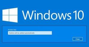Windows 10 et clé produit