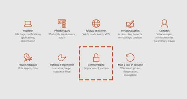 Windows 10 - Confidentialité