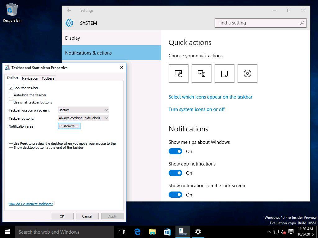Windows 10 build 10551 capture d 39 cran ginjfo for Capture d42cran