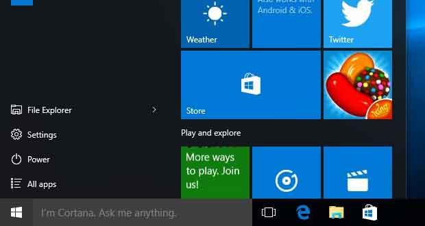 Windows 10 Build 10558 - options autour de la vie privée