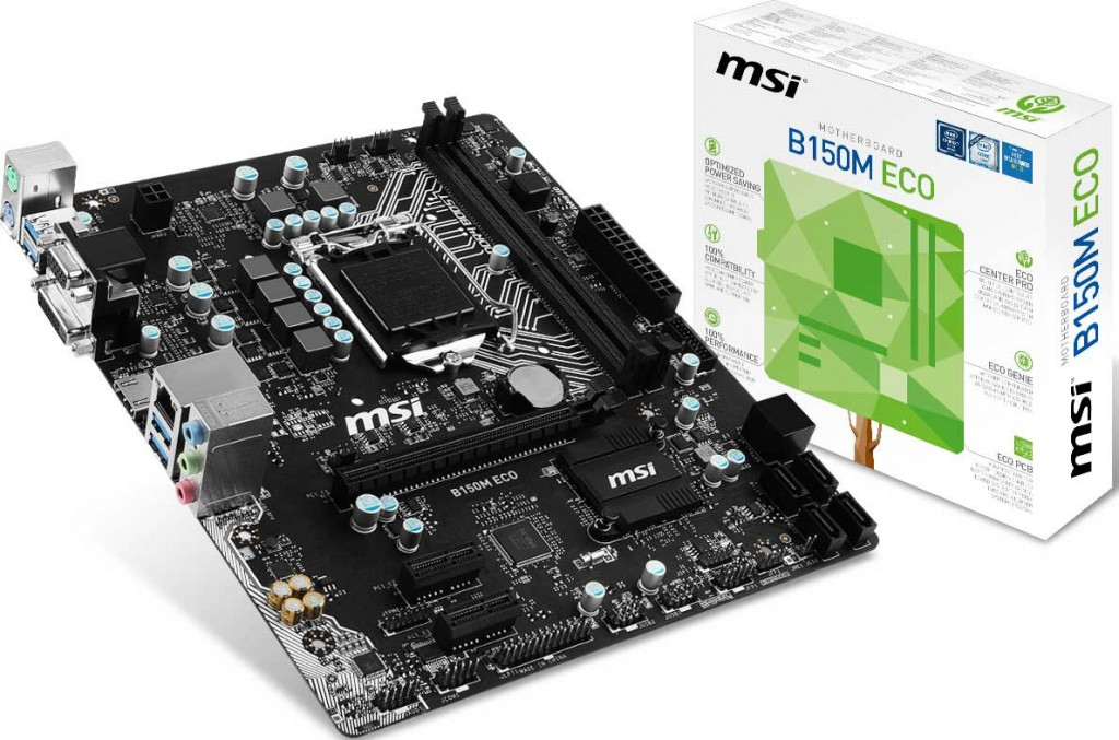 Carte mère MSI ECO series B150M Eco