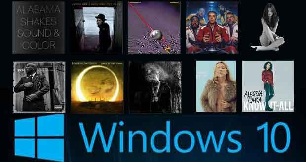 Windows 10 Albums musiques gratuits