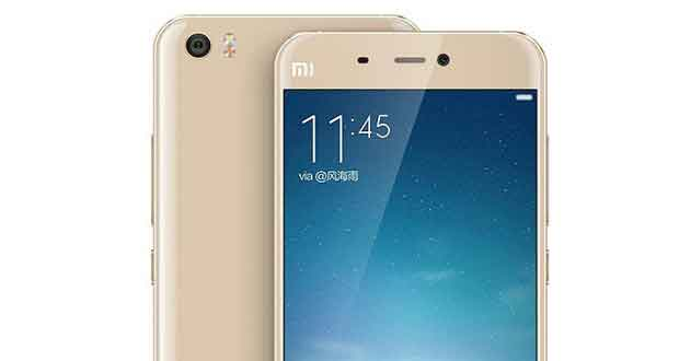 Smartphone Mi5 de Xiaomi - rendu