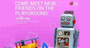 Invitation de LG pour le lancement du LG G5