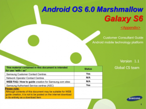 Guide Android 6 Galaxy S6