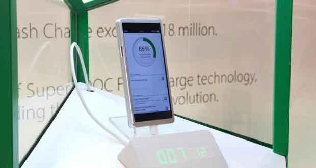 Oppo - Technologie de charge rapide nommée Super VOOC