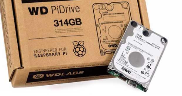 Disque dur PiDrive 314 Go de Western Digital