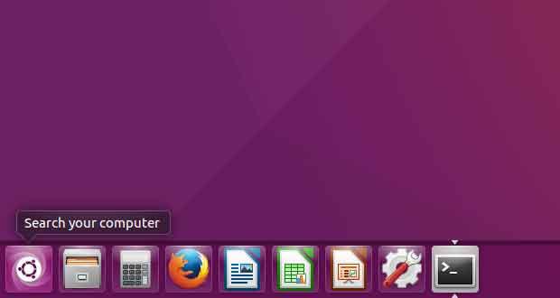 Distribution Linux Ubuntu - L'Unity Laucher placé sur le bas