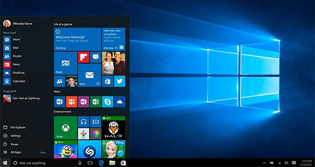 Windows 10, le bureau