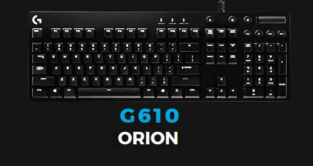 clavier gaming g610 orion logitech propose r tro clairage et switchs cherry mx ginjfo. Black Bedroom Furniture Sets. Home Design Ideas