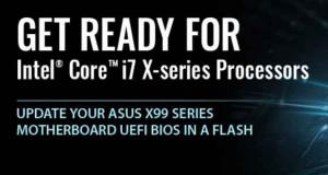 Carte mère X99 d'Asus, BIOS pour la prise en charge de Broadwell-E
