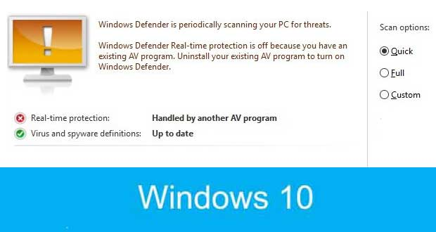"Windows 10, fonction ""Limited Periodic Scannin"", une analyse périodique contre les Malware"