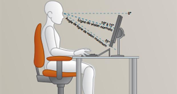 ergonomie la bonne posture devant pc plusieurs conseils ginjfo