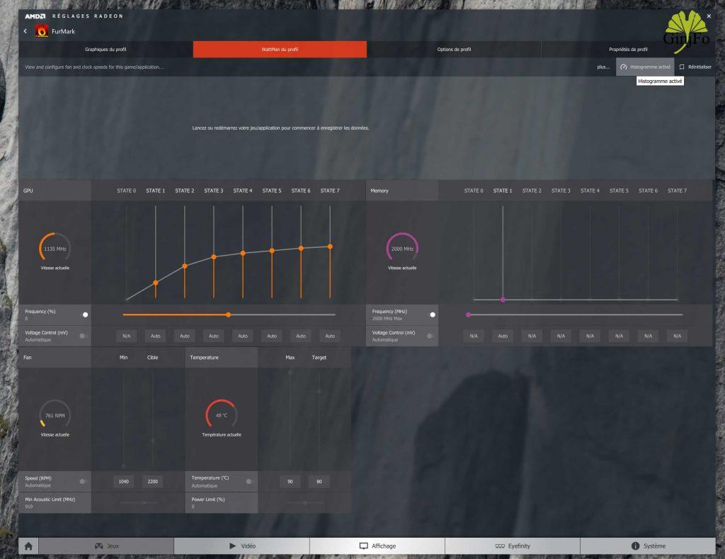 Carte graphique AMD Radeon RX 480 - WattMan