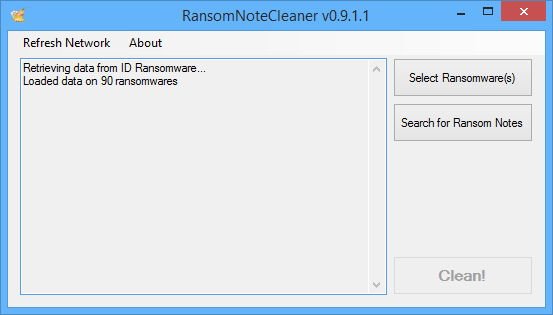 Application RansomNoteCleaner